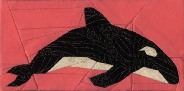 Killer Whale Paper Pieced Quilt Block Pattern