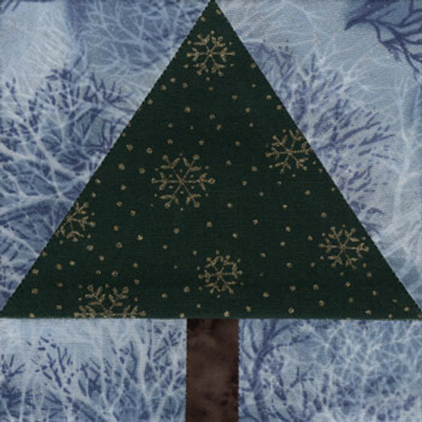 Pine Tree Paper Pieced Quilt Block Pattern