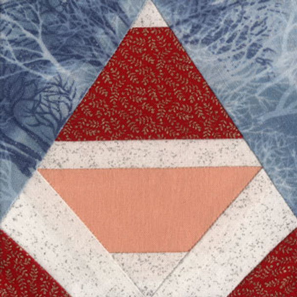 Santa Paper Pieced Quilt Block Pattern