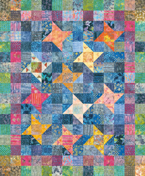 Floating Lilies Paper Pieced Quilt Pattern