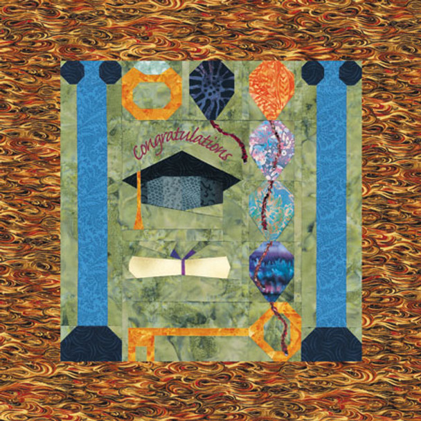 Hats Off to the Graduate Paper Pieced Quilt Pattern