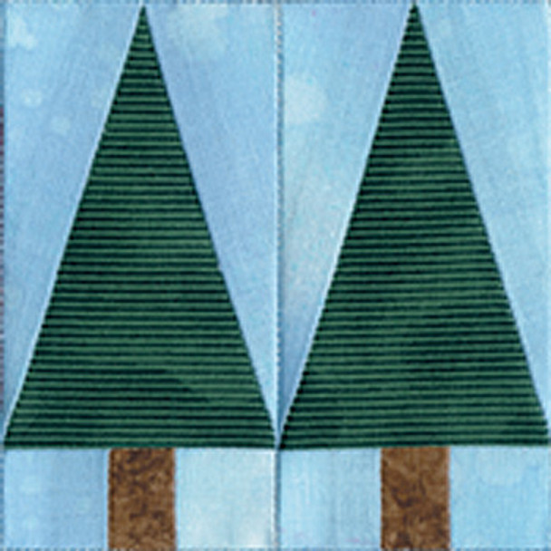 Twin Pines Paper Pieced Quilt Block Pattern