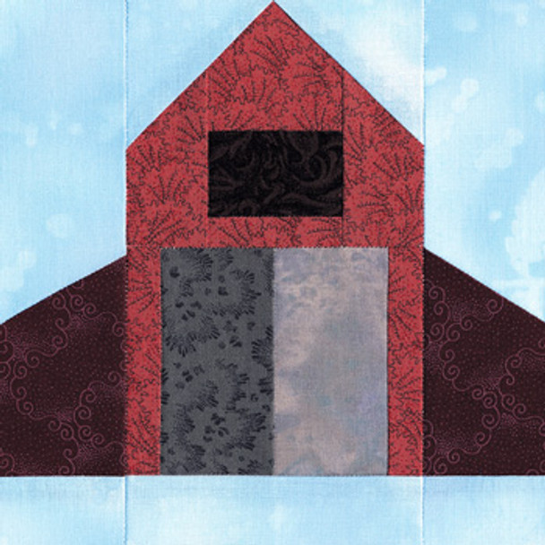 Village Barn Paper Pieced Quilt Block Pattern
