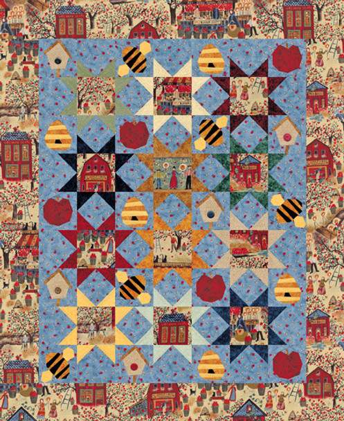 Apple & Bee Orchard Paper Pieced Quilt Pattern