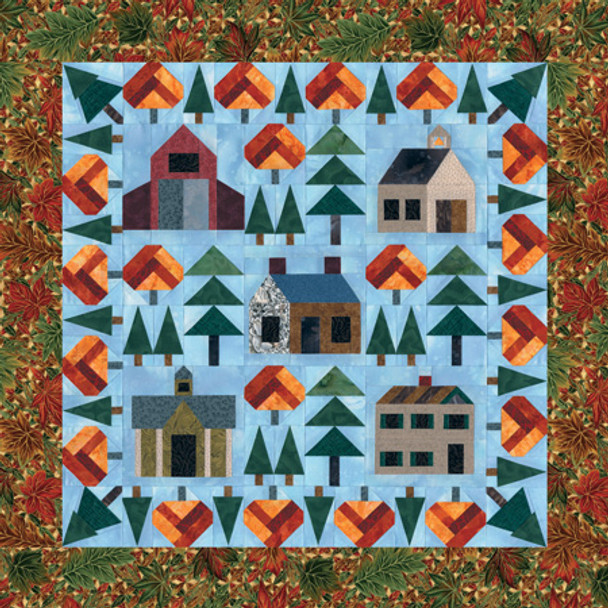 Warmheart Village Paper Pieced Quilt Pattern