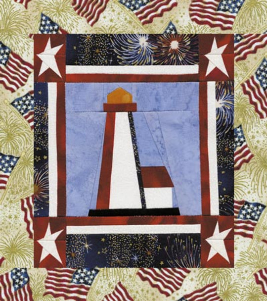 Patriot's Point Paper Pieced Quilt Pattern