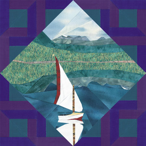 Nature Collection - Mountain Lake Paper Pieced Quilt Pattern