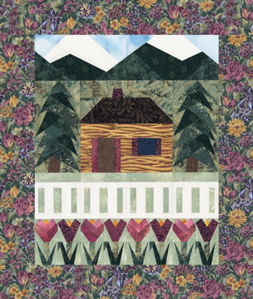 Country Cottage Paper Pieced Quilt Pattern