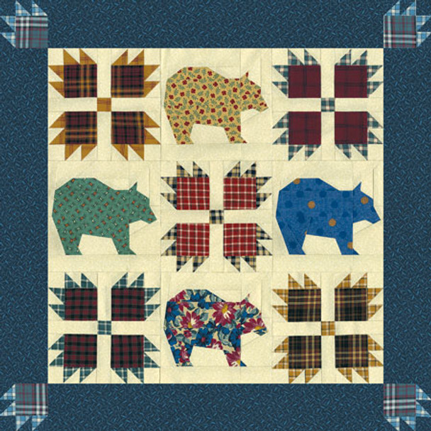 Bear's Paw Paper Pieced Quilt Pattern
