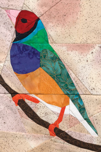 Gouldian Finch Paper Pieced Quilt Pattern