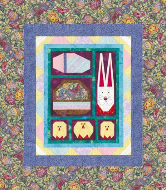 Hopping into Spring Paper Pieced Quilt Pattern