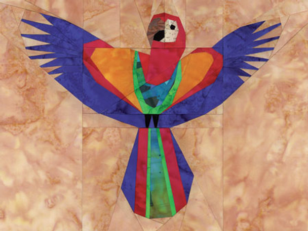 Scarlet Macaw Paper Pieced Quilt Pattern