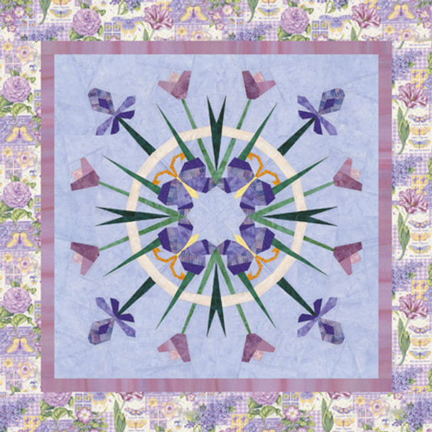 Spring Wreath Paper Pieced Quilt Pattern