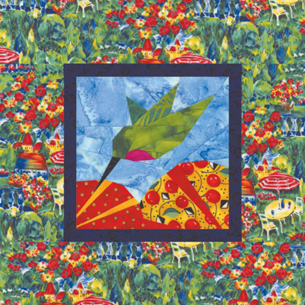 Trumpeting Ruby Paper Pieced Quilt Pattern