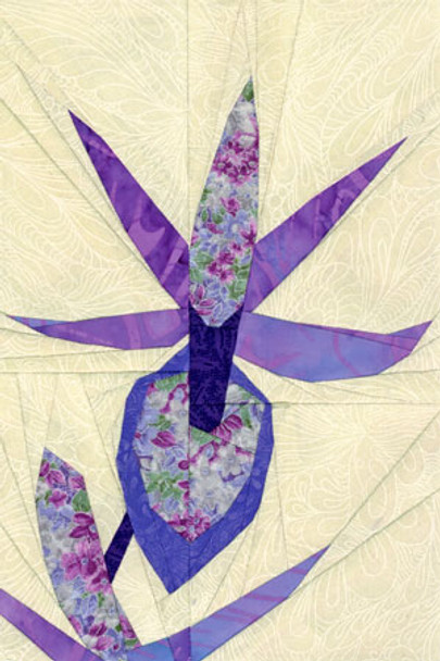 Bakeria Orchid Paper Pieced Quilt Pattern