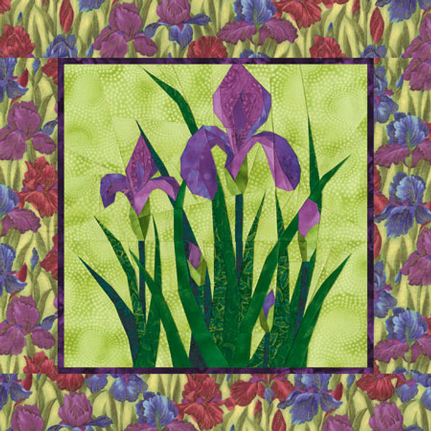 Bearded Iris Paper Pieced Quilt Pattern