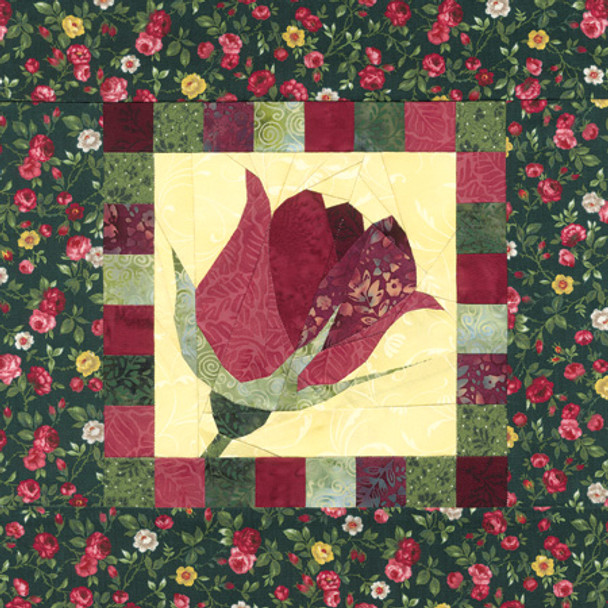 Gardener's Album Radiant Rose Paper Pieced Quilt Pattern