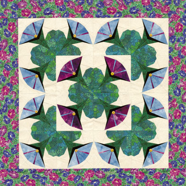 Morning Glory Paper Pieced Quilt Pattern