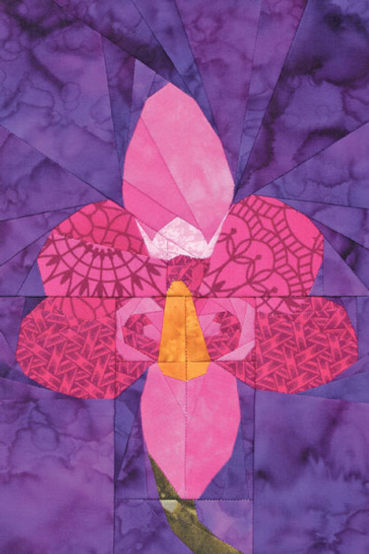 Phalaenopsis Orchid Paper Pieced Quilt Pattern