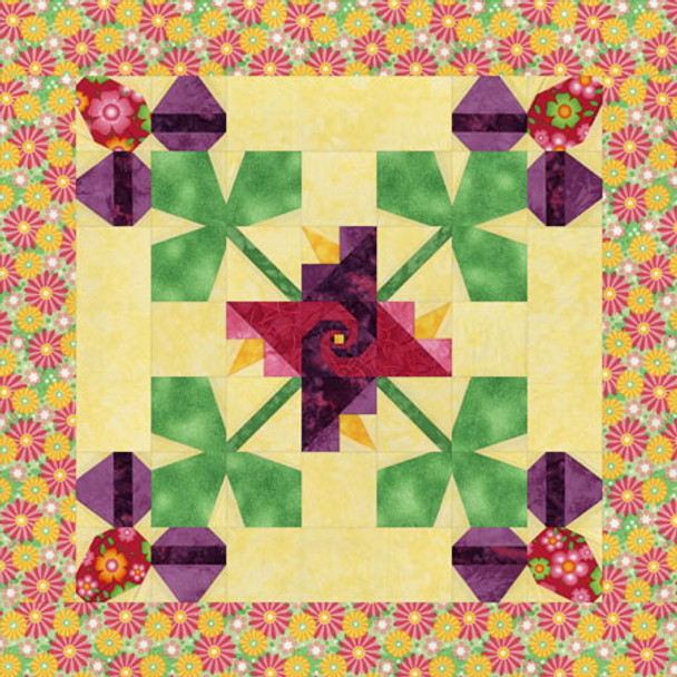 Spring Celebration Paper Pieced Quilt Pattern