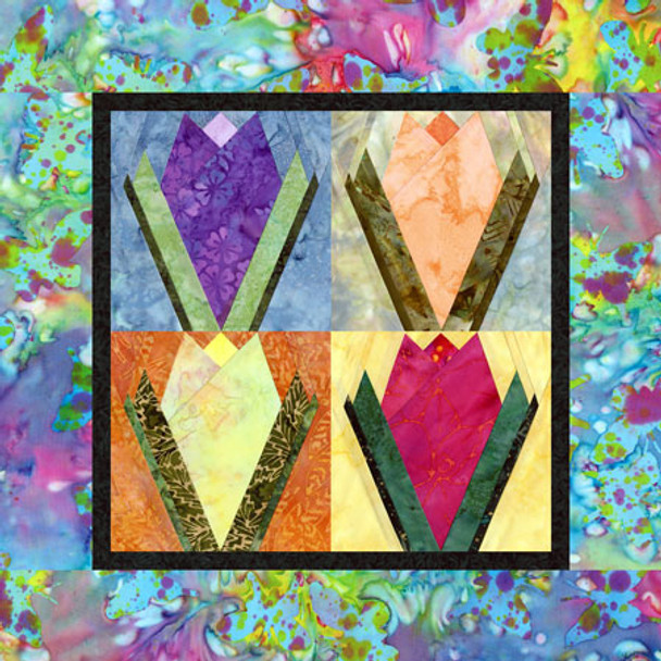 Springtime Tulips Paper Pieced Quilt Pattern