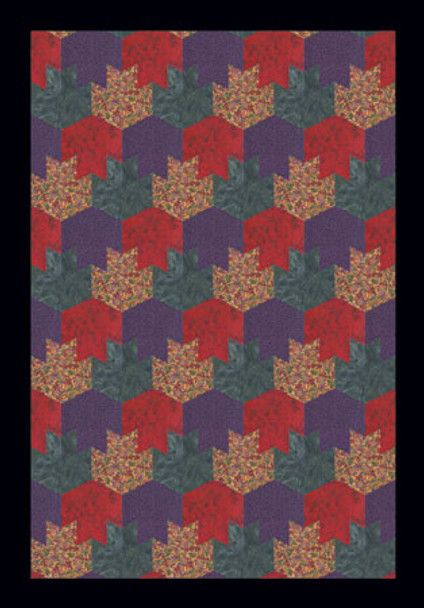 Tessellated Leaves Paper Pieced Quilt Pattern