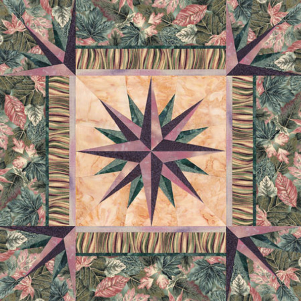 Synergy Compass Paper Pieced Quilt Pattern