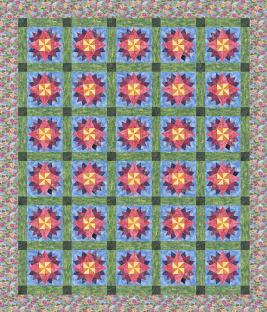 Summer Lily Paper Pieced Quilt Pattern