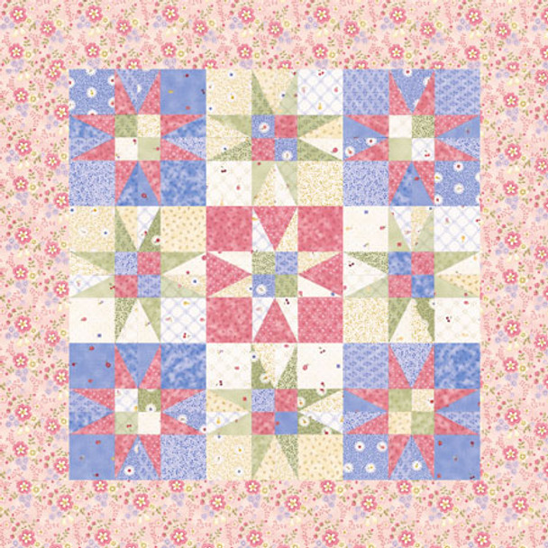 Stars for Mom Paper Pieced Quilt Pattern