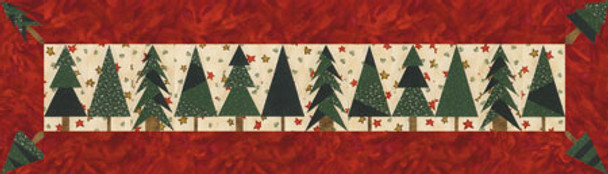 Pine Tree Runner Paper Pieced Quilt Pattern