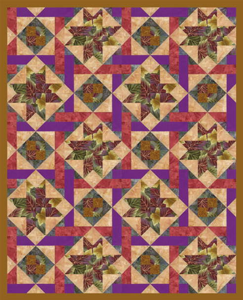 Magic Flute Paper Pieced Quilt Pattern