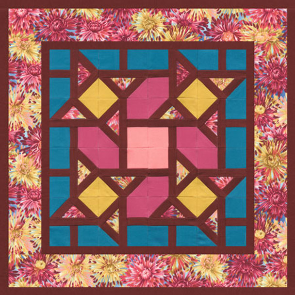 Forget Me Knots Paper Pieced Quilt Pattern
