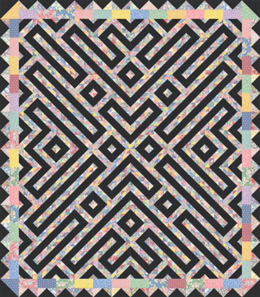 Dancing Waves Paper Pieced Quilt Pattern