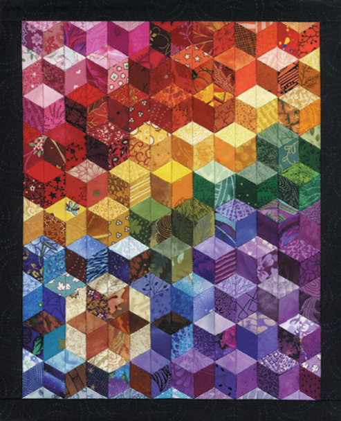 Cascading Rainbows Paper Pieced Quilt Pattern