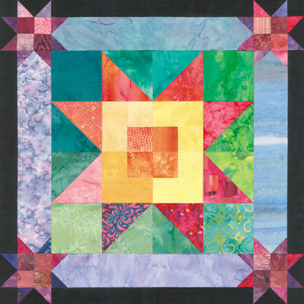 Bali Sunrise Paper Pieced Quilt Pattern