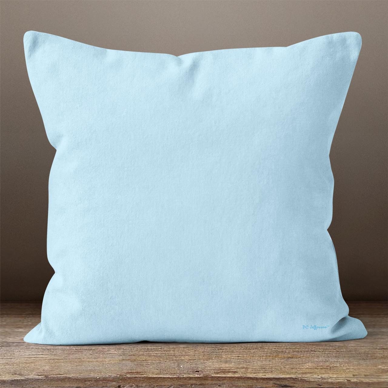 Light Blue Throw Pillow Pillowcubes