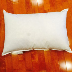 "10"" x 20"" 10/90 Down Feather Pillow Form"