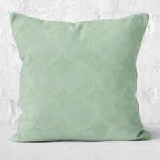 Sage Green Circle Dots Throw Pillow