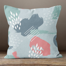 Grey Abstract Throw Pillow