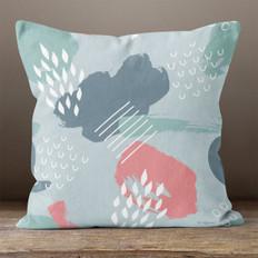 Grey Abstract Throw Pillow