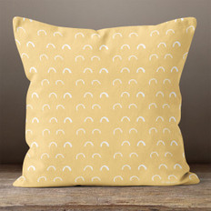 Gold Elbows Throw Pillow