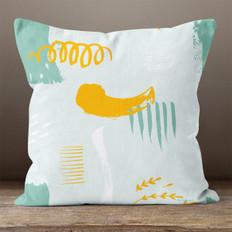 Light Blue Abstract Throw Pillow