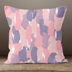 Pink and Purple Abstract Throw Pillow