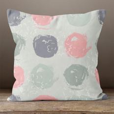 Light Green Circles  Throw Pillow