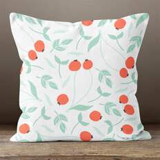 White Tomato Throw Pillow