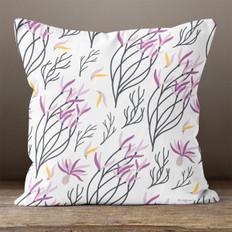 White Lavender Throw Pillow