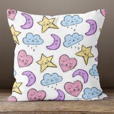 White Celestial Throw Pillow
