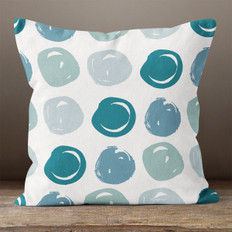 Sea Foam Circles Throw Pillow