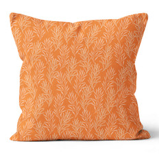 Orange Leaves Throw Pillow