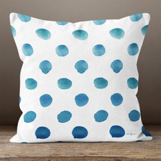 White Ocean Droplets Throw Pillow